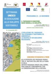 locandina settimana Unesco 2013